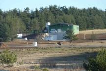 Vue générale de la station d'épuration de Coucouron