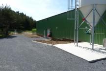 Vue latérale de la station d'épuration de Coucouron