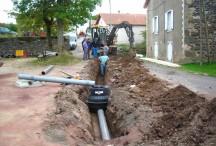 Les travaux d'assainissement dans le hameau de Villeverte