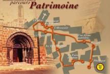 Itinéraire et étapes du parcours patrimoine de Coucouron